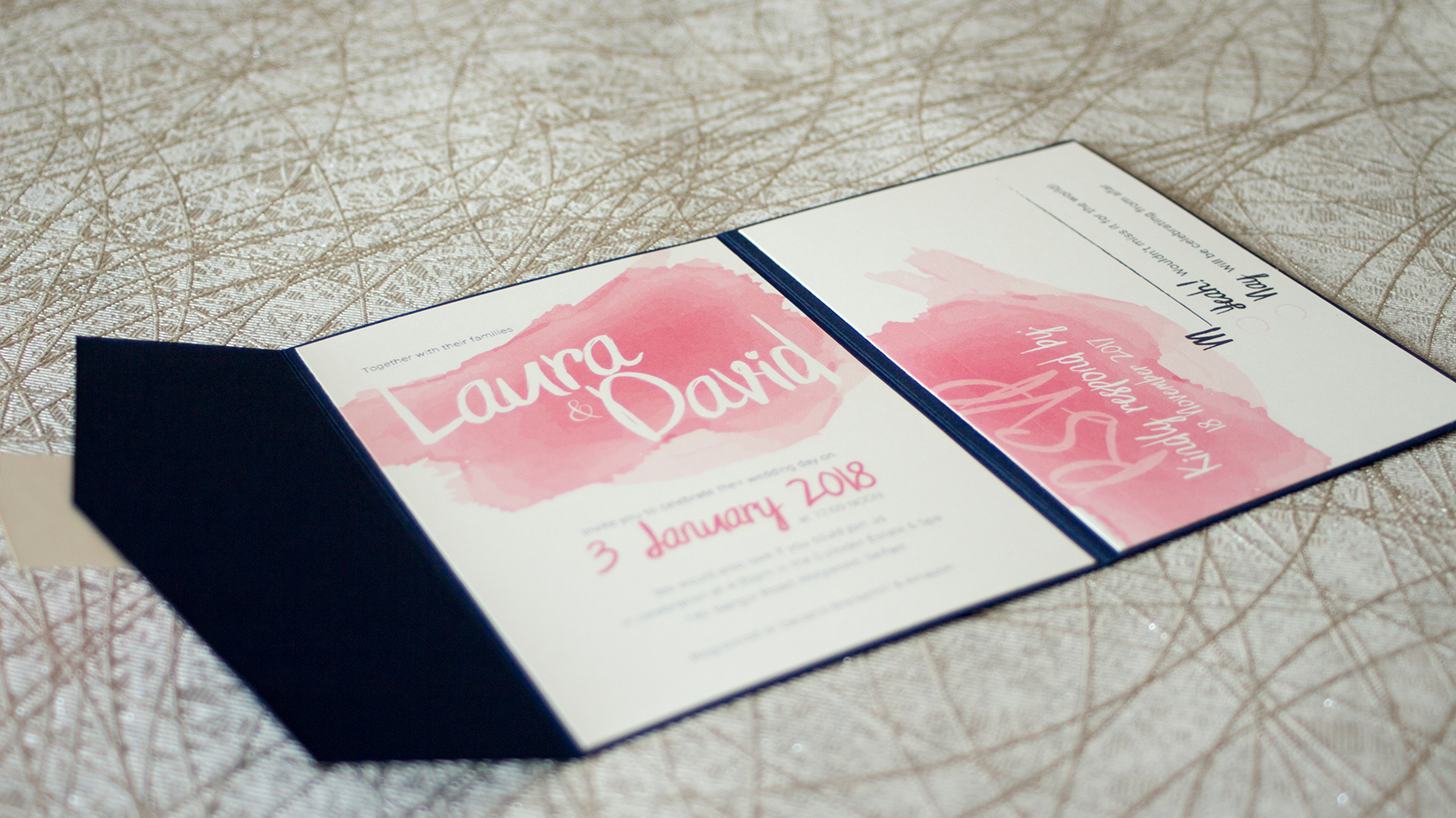 Sample wedding of Laura & David - main invite