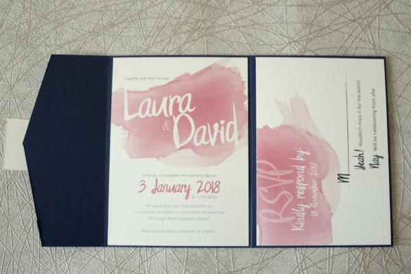 Sample wedding of Laura & David - main invite 2
