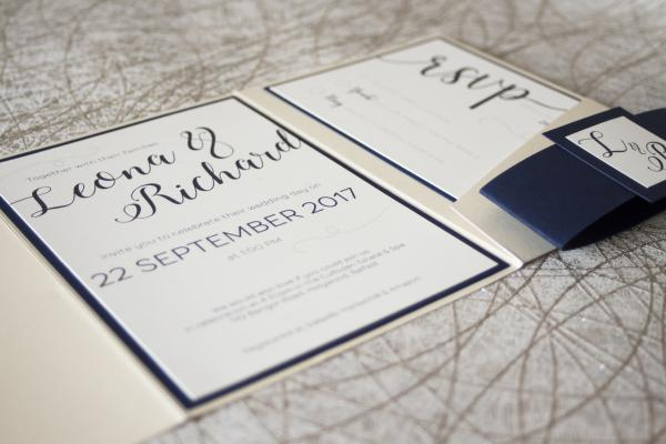 Sample wedding of Leona & Richard - main invite