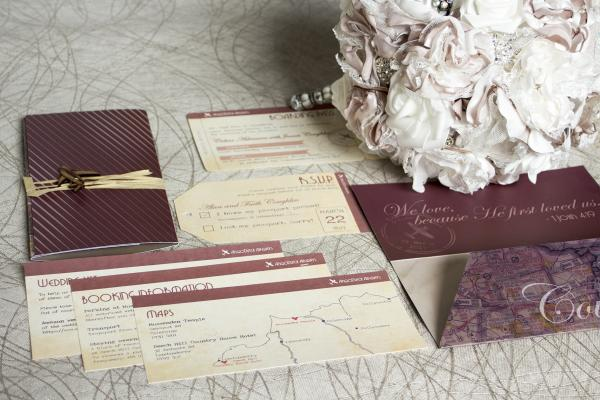 Wedding of Celine & James Coughlin - invitation