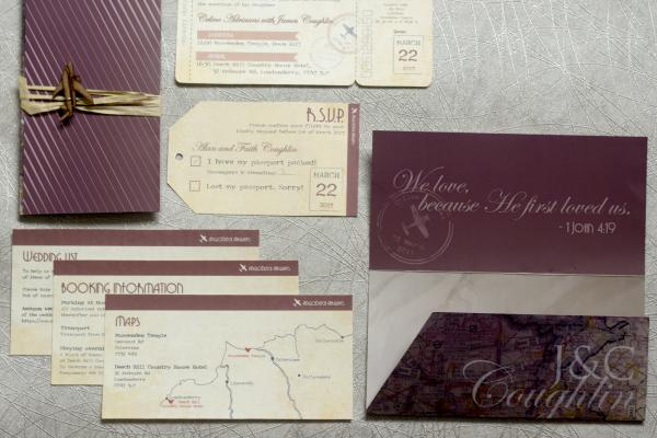 Wedding of Celine & James Coughlin - invitations